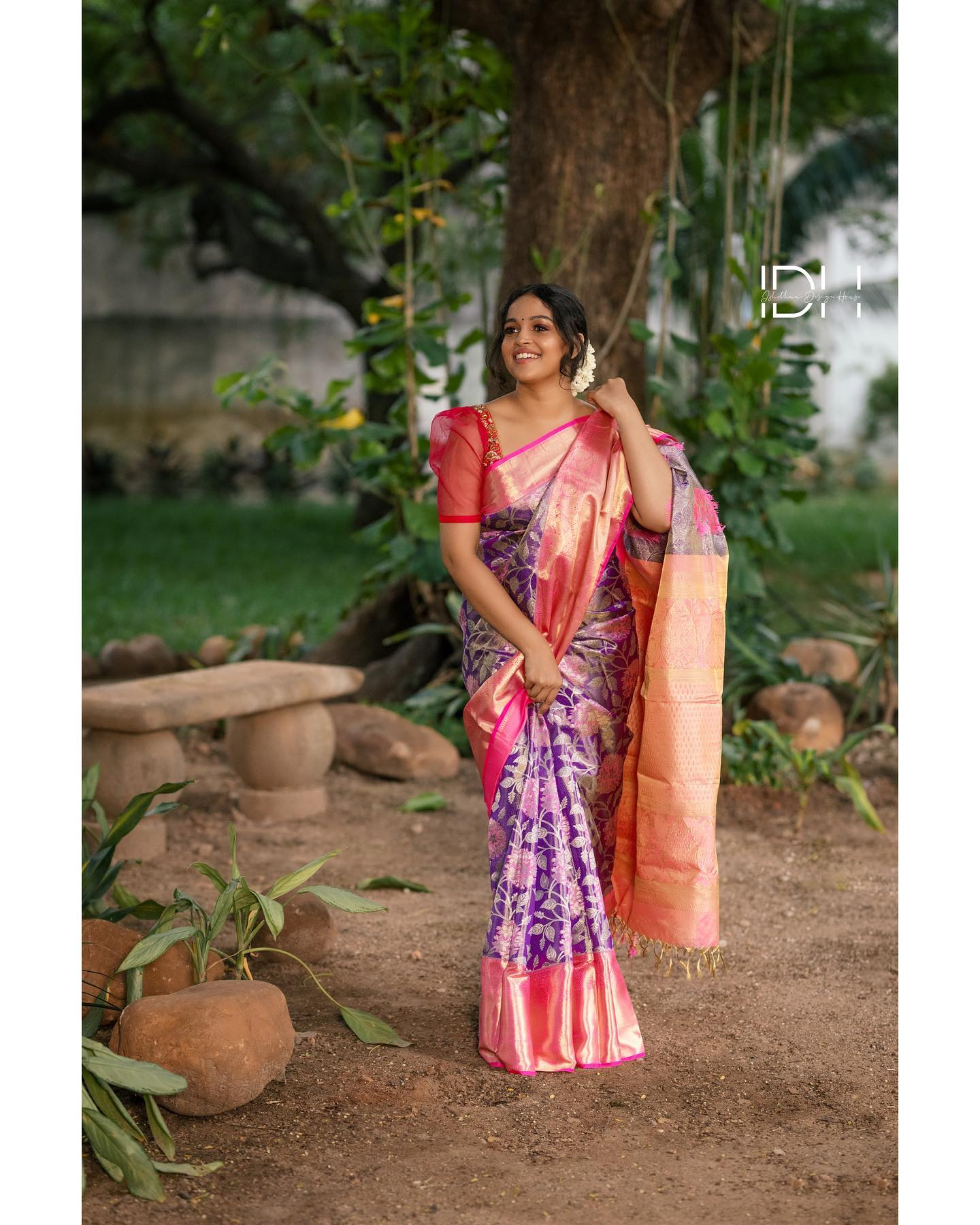 Stunning embroidery blouse for matching kanchi pattu saree. Blouse with see through net sleeves. Beautiful muse : Nakshatra Murthy . Blouse : Ishithaa design house . Saree : Aaryanair designs . Muah : kavitha Sekar . Photography: Nithin . . . . Ping on 9884179863 to book an appointment...   2021-07-25