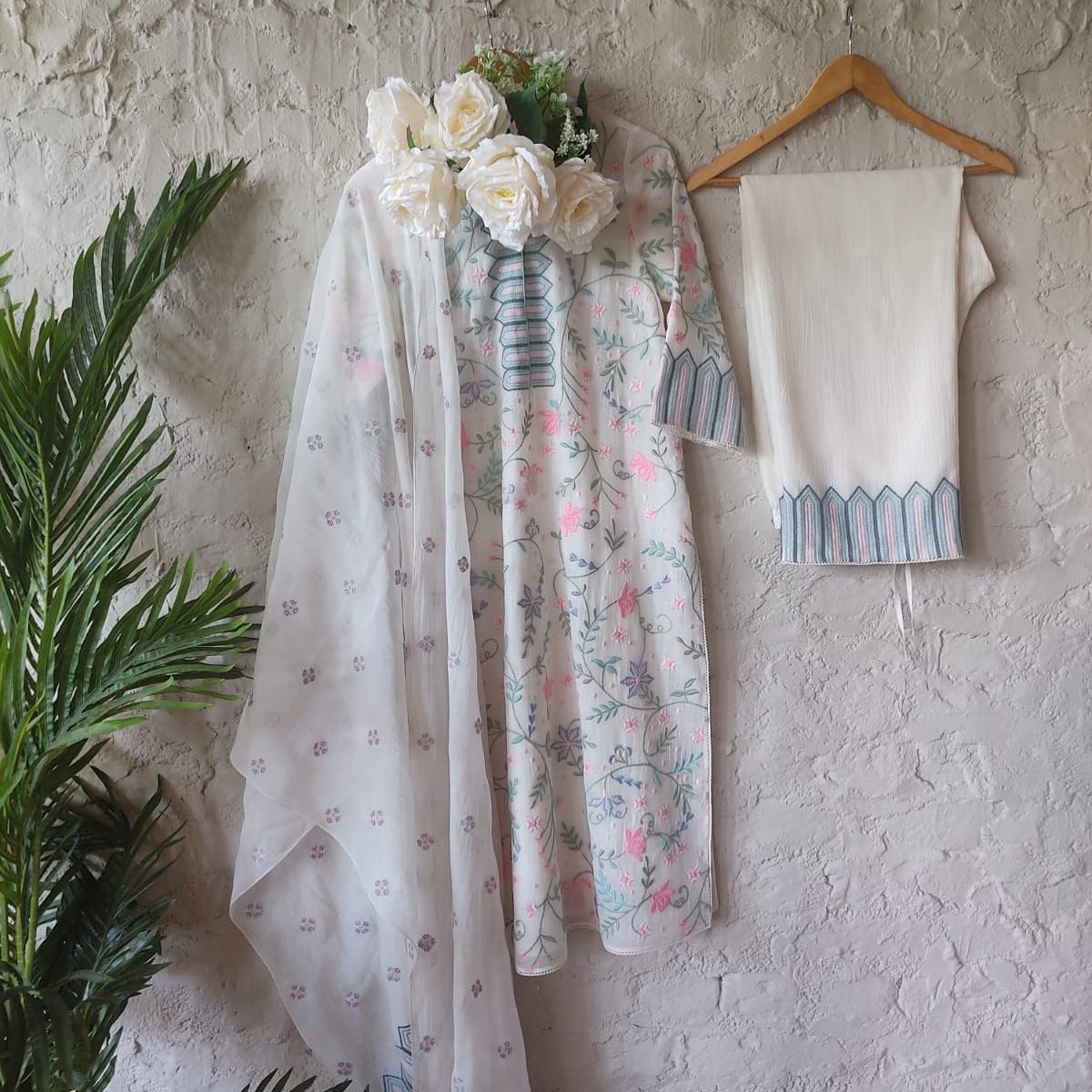 The Pastel Garden Kurta Set!  Please contact sales team at 9899070899 for orders ana enquiries! 2021-07-25