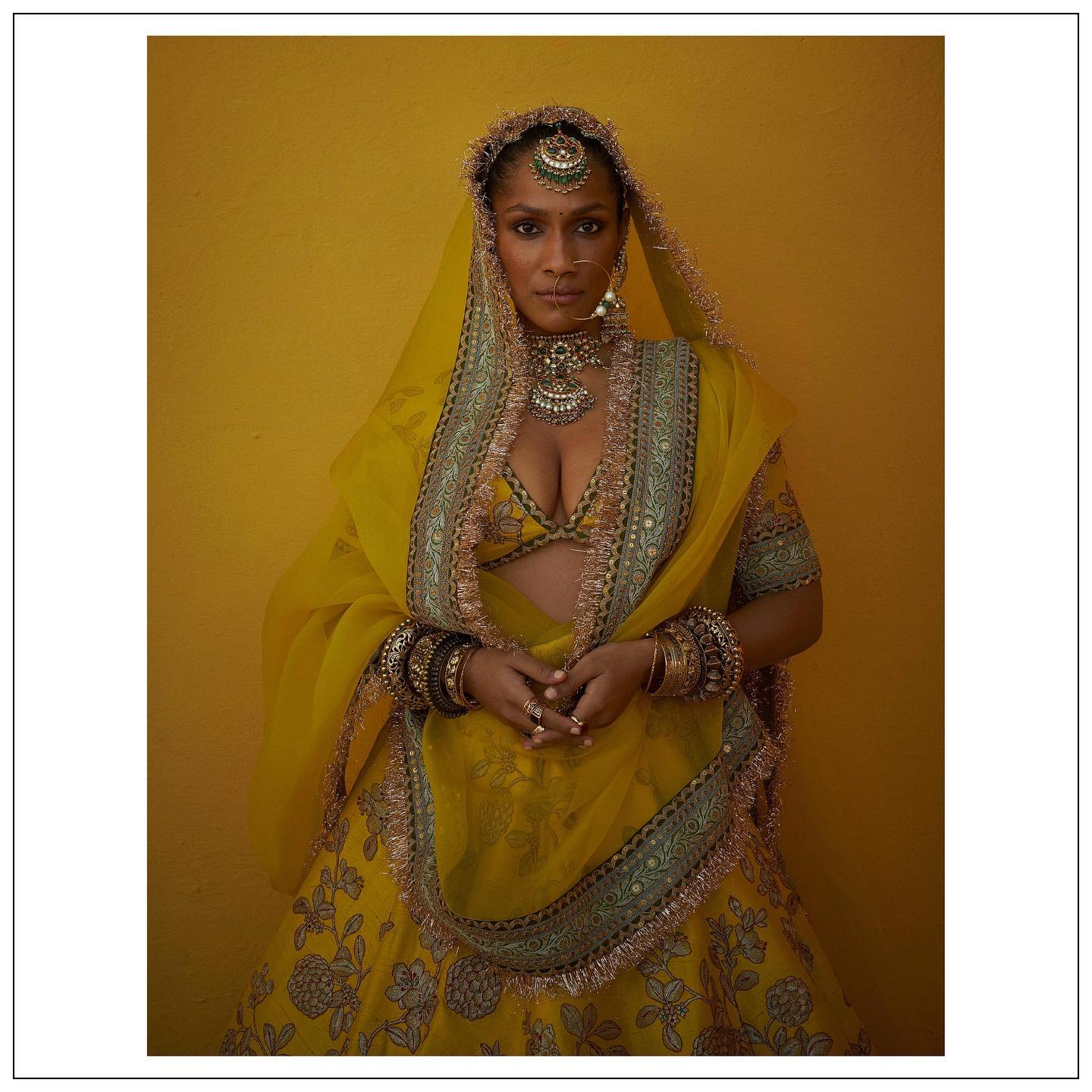 The 2021 collection.  Masaba Gupta in Sabyasachi clothing and jewellery .  For all product related queries please email  at customerservice@sabyasachi.com or contact  retail stores directly. 2021-07-26