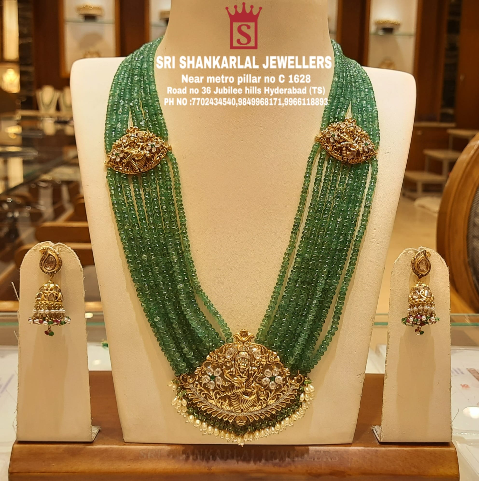 Presenting here Latest Dashavatharam beads haram and vast collection Please visit  on video call to see more collection pH no 7702434540 9849968171 9966118893 to see more collection 2021-07-31