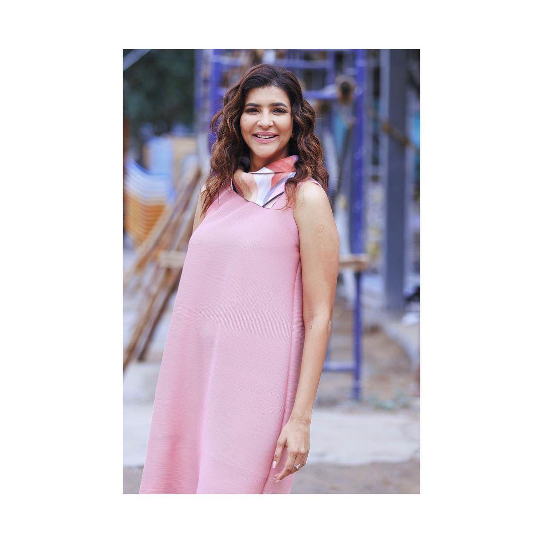 Lakshmi Manchu Be a flamingo in a flock of pigeons! Outfit : shop scar lets age. 2021-08-04
