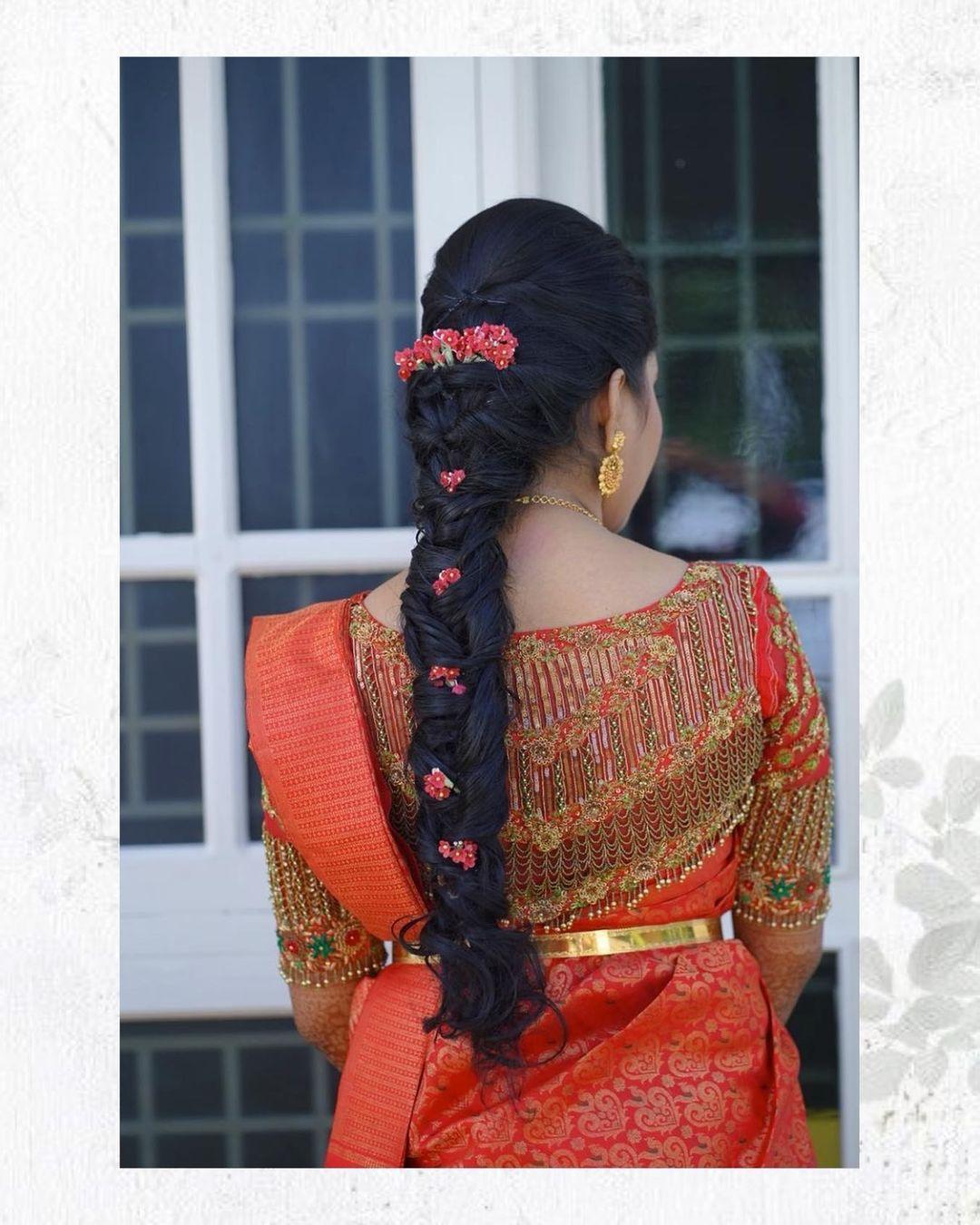 Beautiful bridal blouse with floral bead heavy aari work.  2021-08-05
