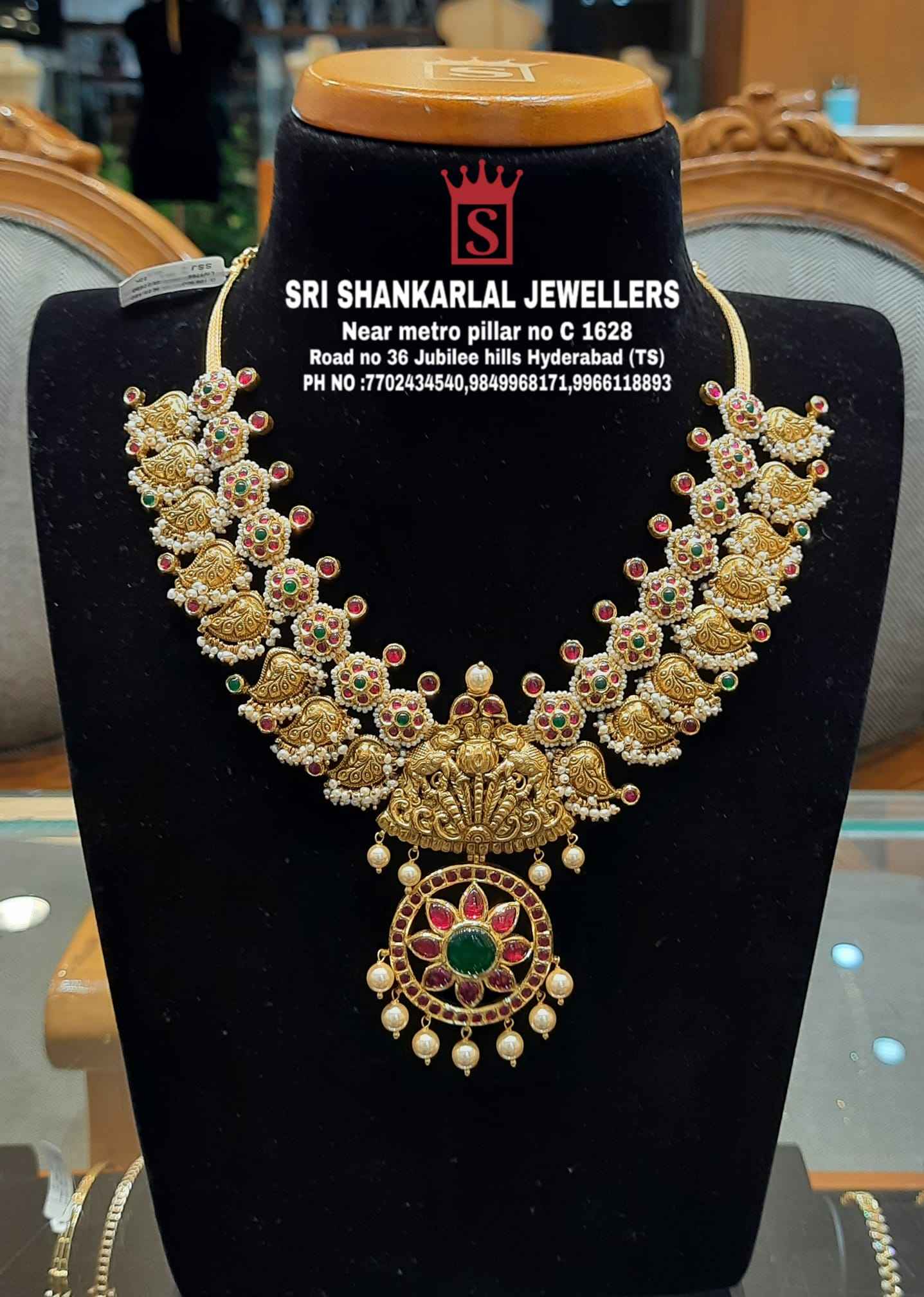 Latest Nakshi Kundan Necklace Jewellery in light weight and heavy looking jewellery and vast collection Please visit on video call Phone number 7702434540;9849968171;9966118893. 2021-08-19