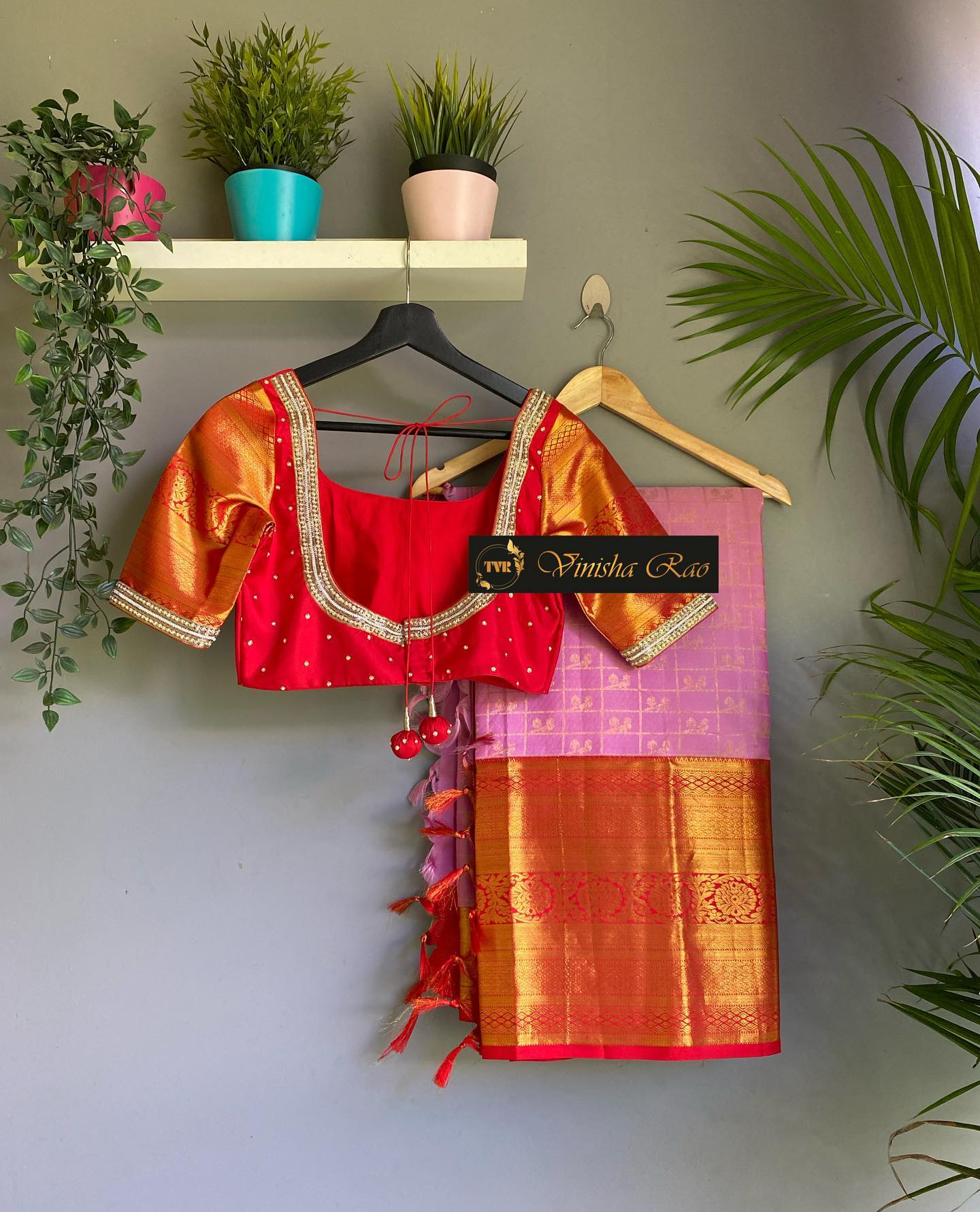 Red pure silk bridal blouse with pearls spring and beads hand embroidery work for pure Kanjeevaram pattu saree from the house of Vinisha rao designer studio !! Suitable for all kind of occasions !!  .. . You can call to order on
