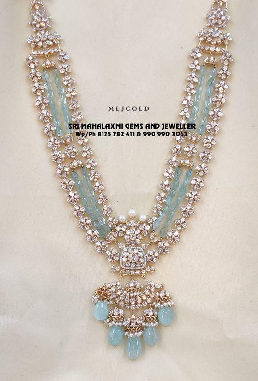 Presenting Latest pacchi setting Flat Diamond Long Haram. 2021-08-31