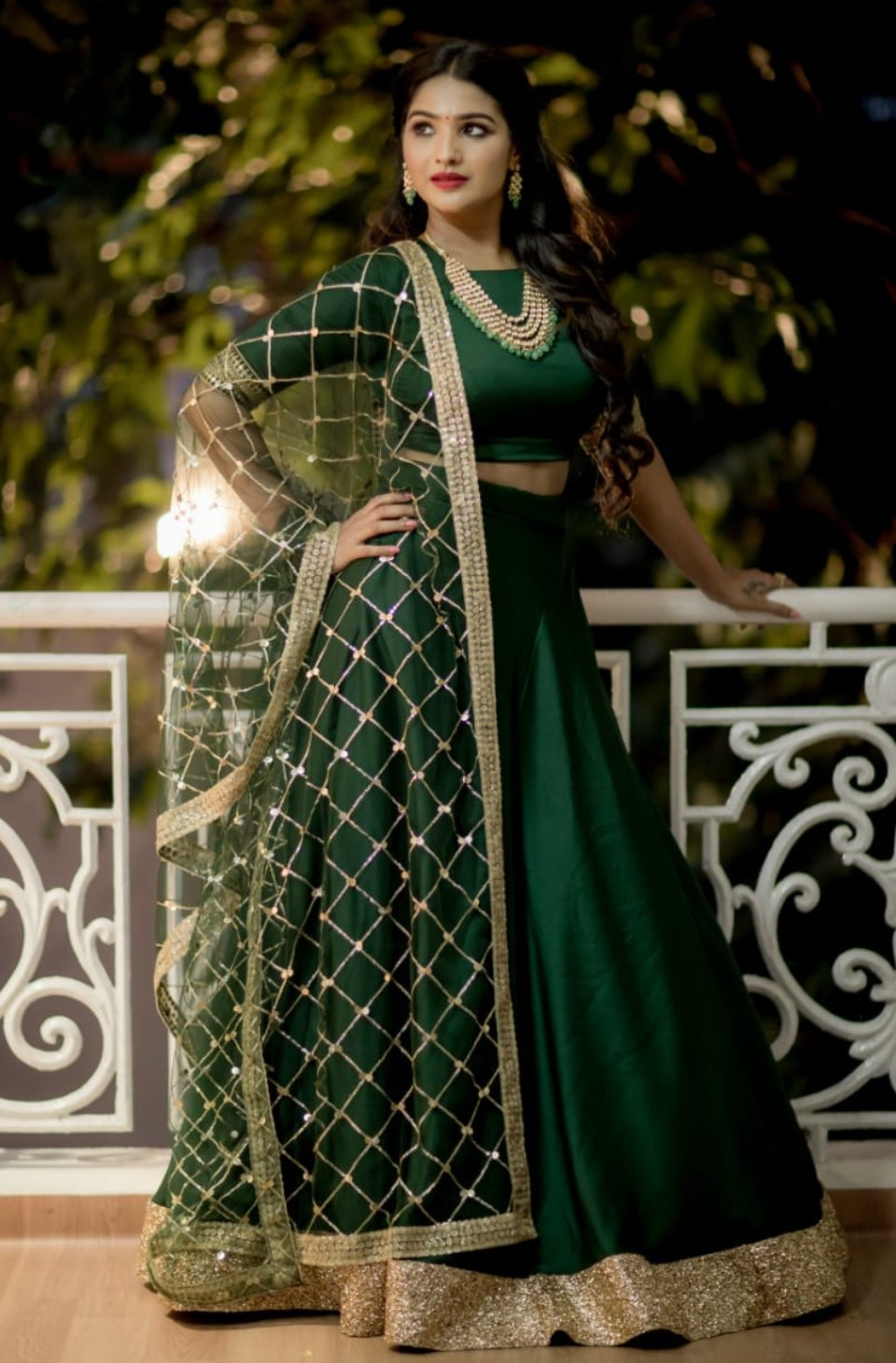 Bottle green lehanga. . . simple bottle green crop top and raw silk skirt paired with sequin dupatta. . Can be customised in other colors  based on the availability. . . Place your orders now!  . . For orders & queries please whatsapp  on  9952093562 or Reach  on 044 4262 4085. 2021-09-01