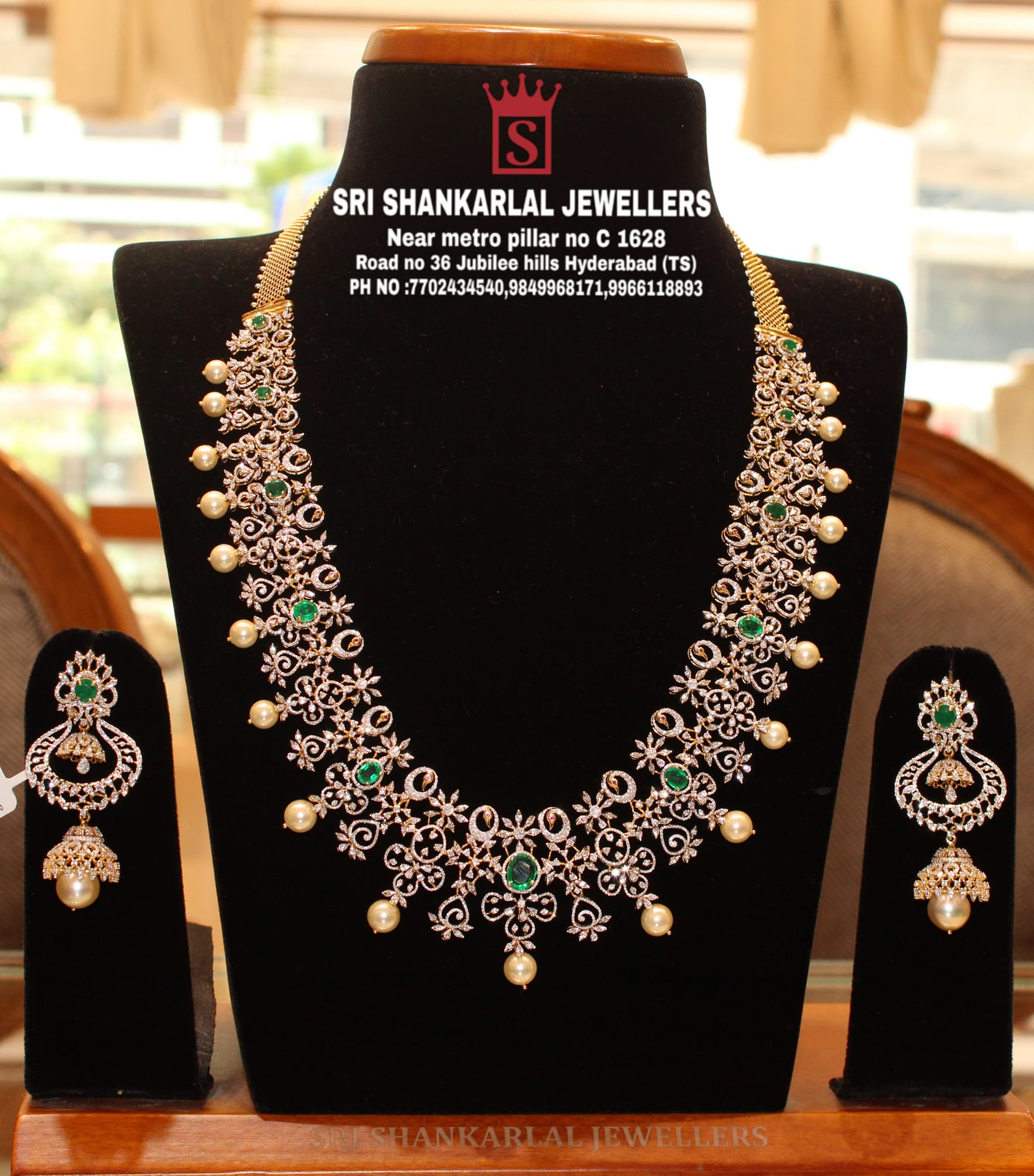 presenting Diamond Long Haram and Jumka Jewellery in light weight and heavy looking jewellery and vast collection 2021-09-02