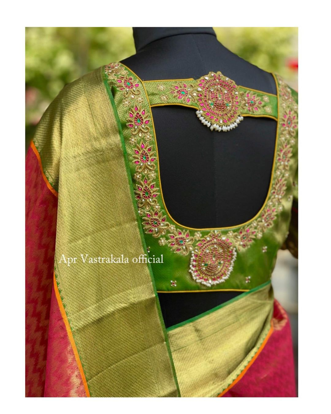all time classics . Mix and match your sarees with a jewel work blouse. 2021-09-04