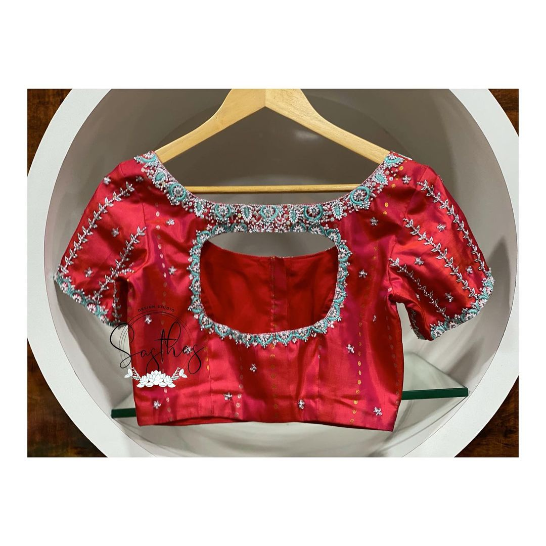Simple and elegant blouses !! For bridal appointments call @ 9894580666 ! 2021-09-05