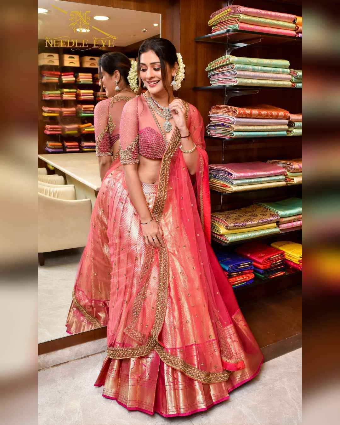 Beautiful Paayal Rajput looking gorgeous in latest collection of customized pattu half saree! 2021-09-06