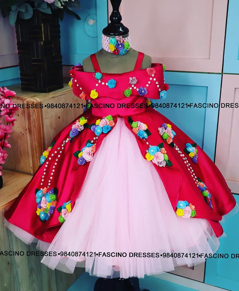 A fully embellished Princess gown . Wats app or inbox to order 9840874121. Can customize in any color / size . 2021-09-08