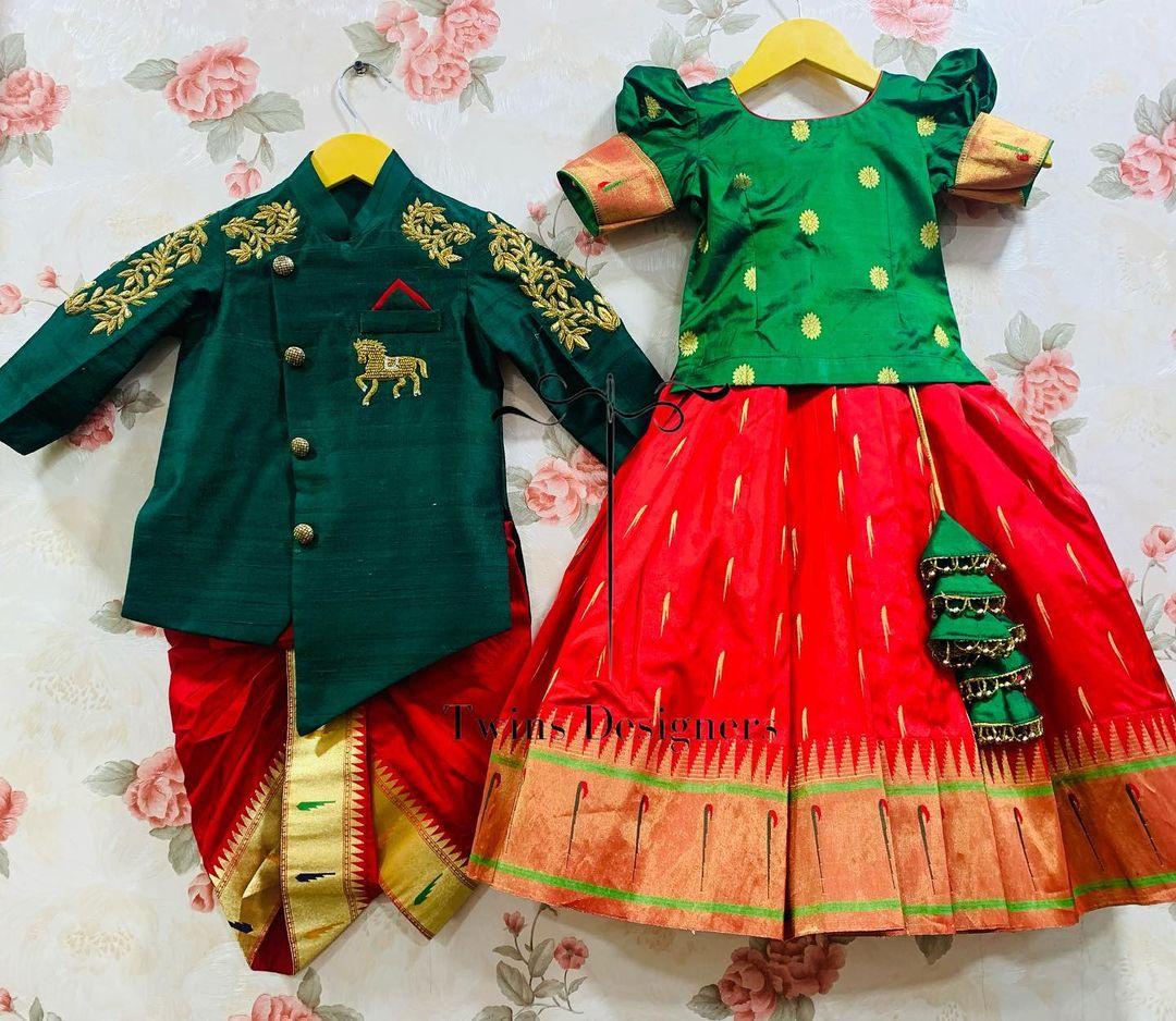 Traditional Brother and sister combo.  For orders call/WhatsApp:8374504389/9059693997. 2021-09-08