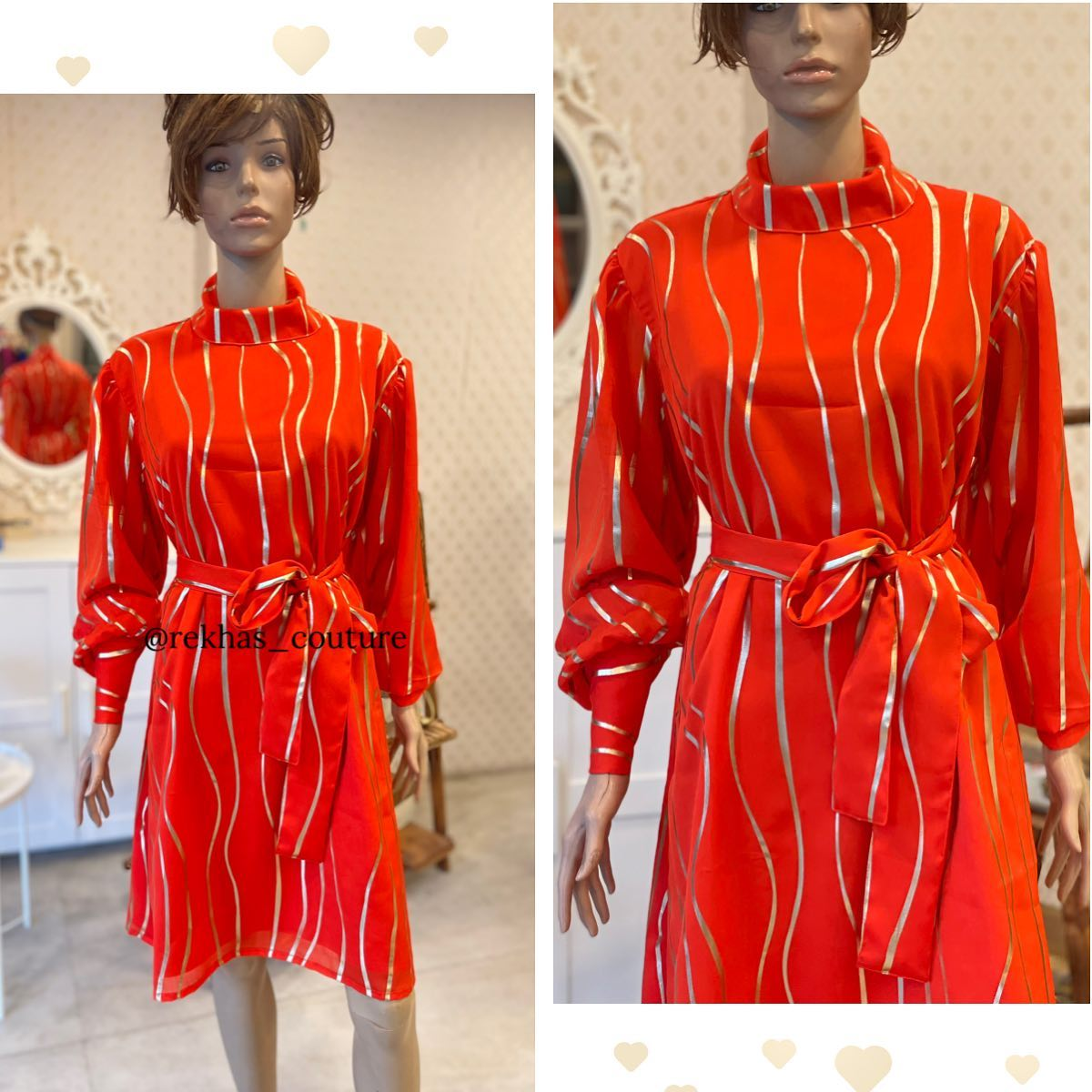Pretty silhouette with bright orange colour highlighted with gold mica print.  done in customised sizes. 2021-09-09