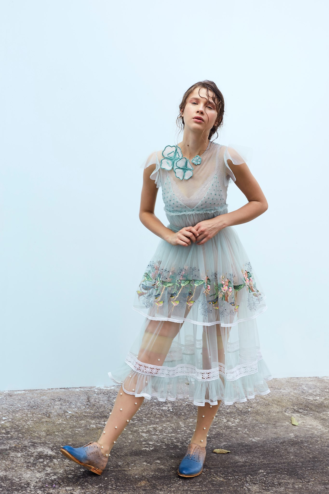 Be the kind of love that twirls the world. . Featured here Mint two tiered dress with bird embroidery. 2021-09-09