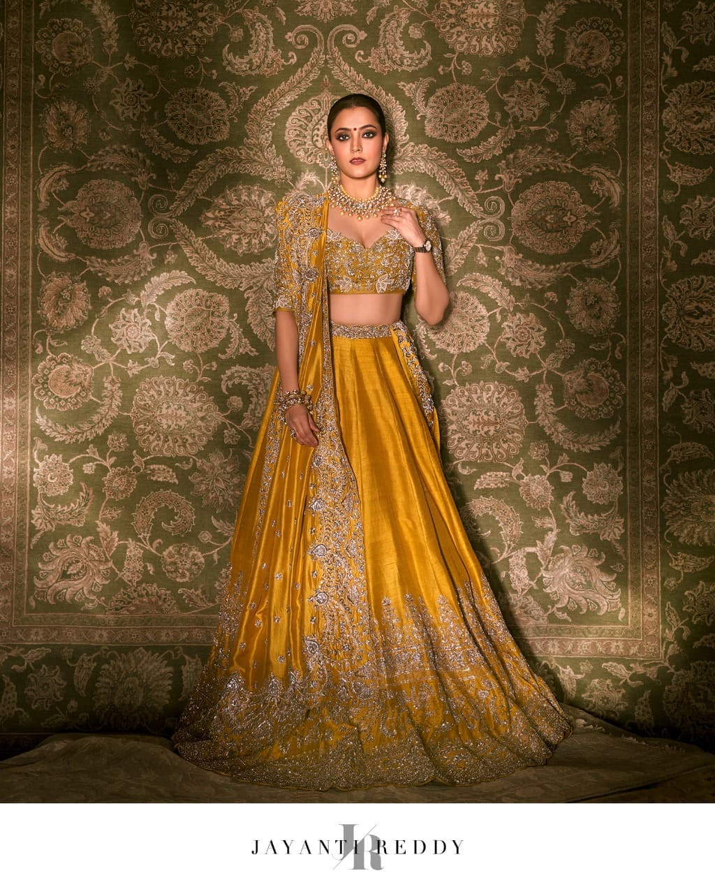 Gorgeous Nisha Aggarwal Dolled up in a classic mustard embroidered lehenga set .. 2021-09-09
