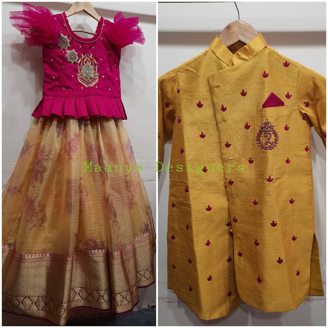 Customised sis and brother combo dresses For price details inbox  on +917799503713 2021-09-10
