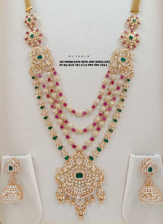 Presenting a Bridal Diamond long haram here combined with Jhumke. 2021-09-12
