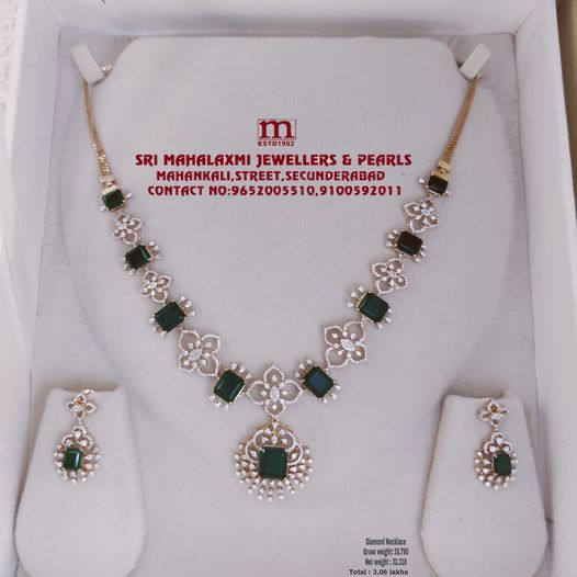 Celebrite Everlasting Feeling s Of Love With This Exquisite Light Weight Diamond Necklace Emreld Diamond VVS E-F COLOR WITH IGI CERTIFIED 2021-09-12