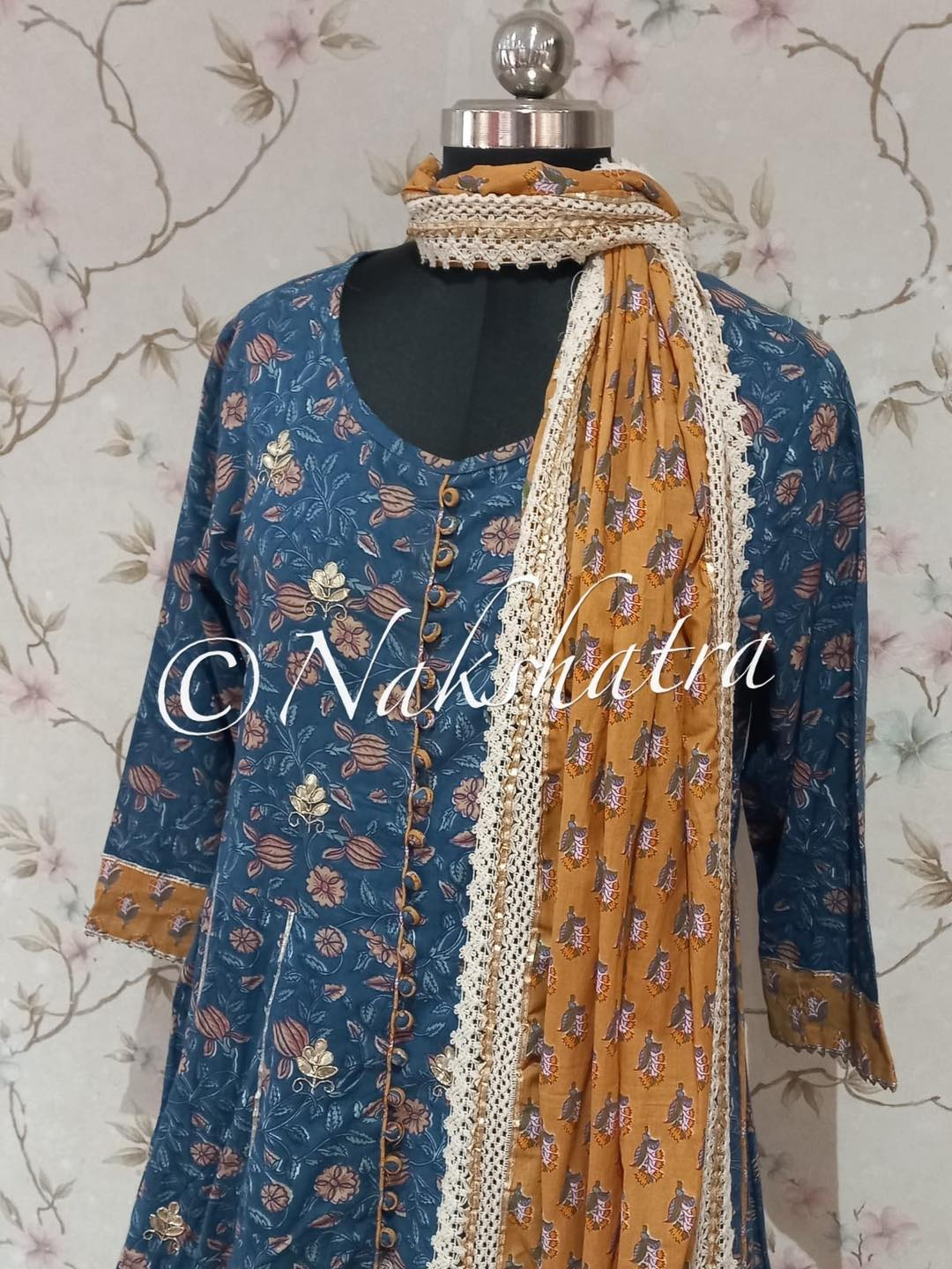 Beautiful jaipur printed very fine and pure soft cotton ghararas sets with beautiful dupatats