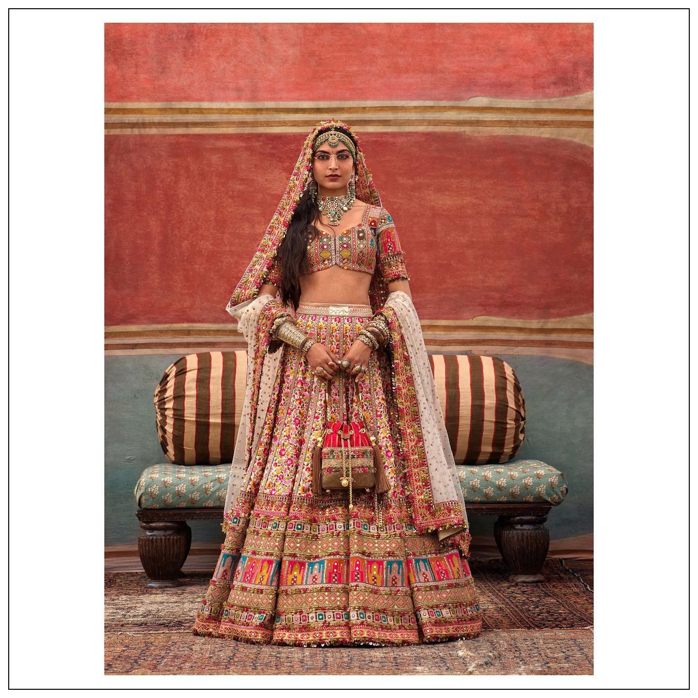 Stunning Sabyasachi bridal embroidery lehenga set.  2021-09-19