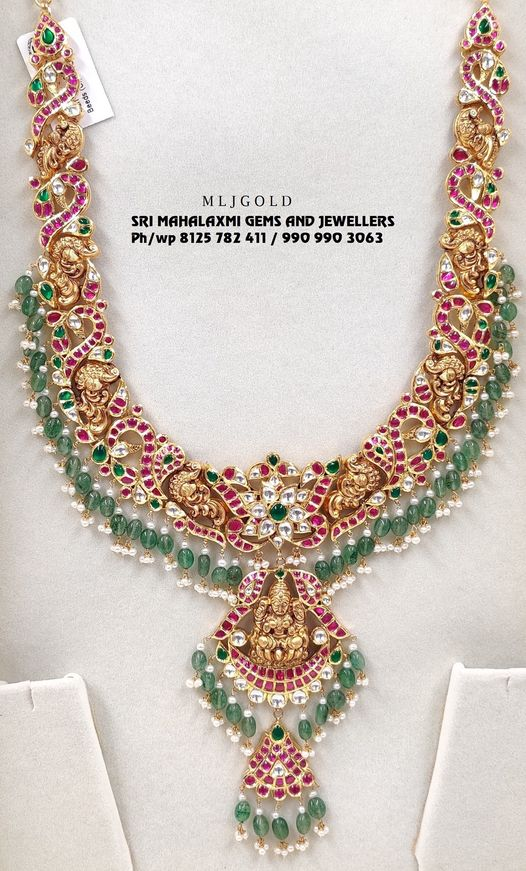 New Designs of long harams added. Presenting a Kundan work haram. Visit for full range at most competitive prices. 2021-09-19