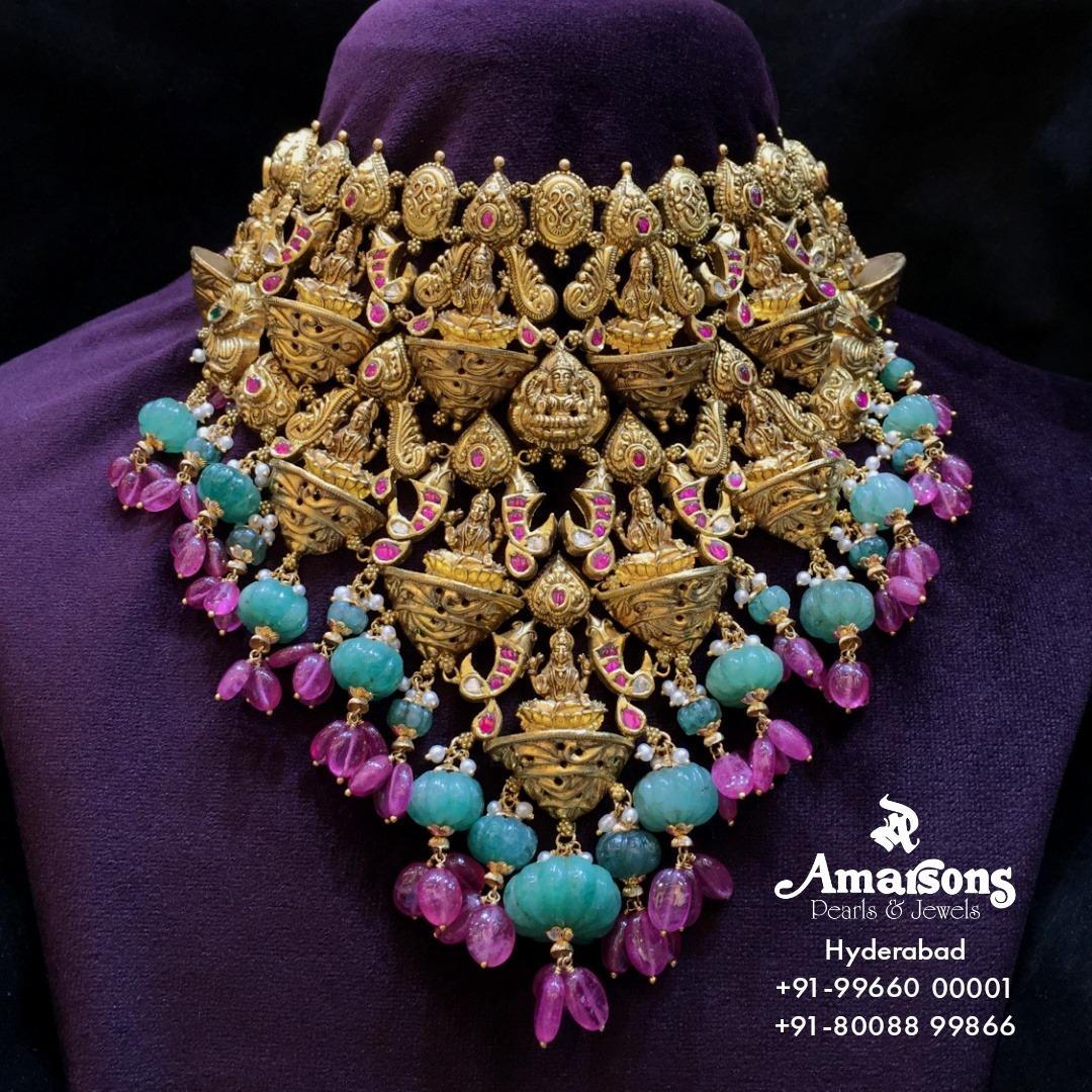 Lakshmi Gold Nakshi Choker. 2021-09-22