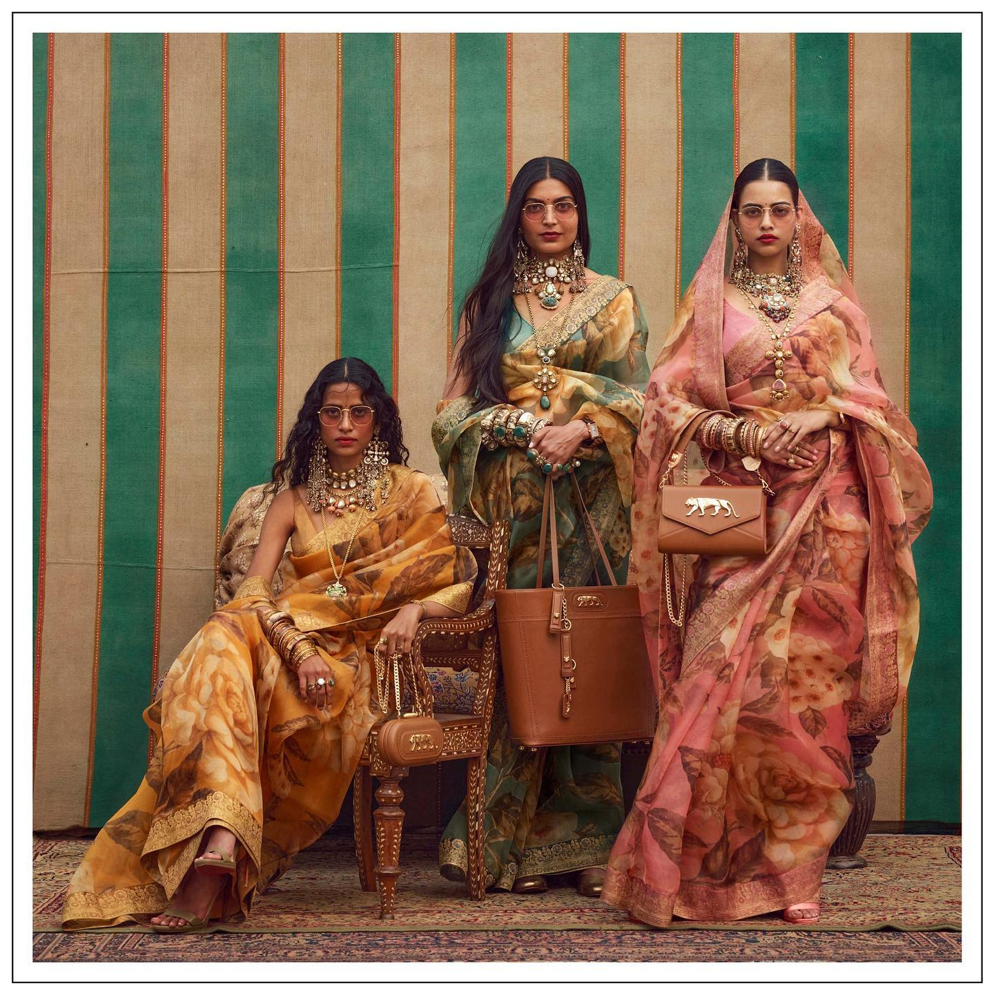 The Sabyasachi 2021 Collection. Sabyasachi floral saree.  For all product related queries please email at customerservice@sabyasachi.com or contact retail stores directly. 2021-09-26
