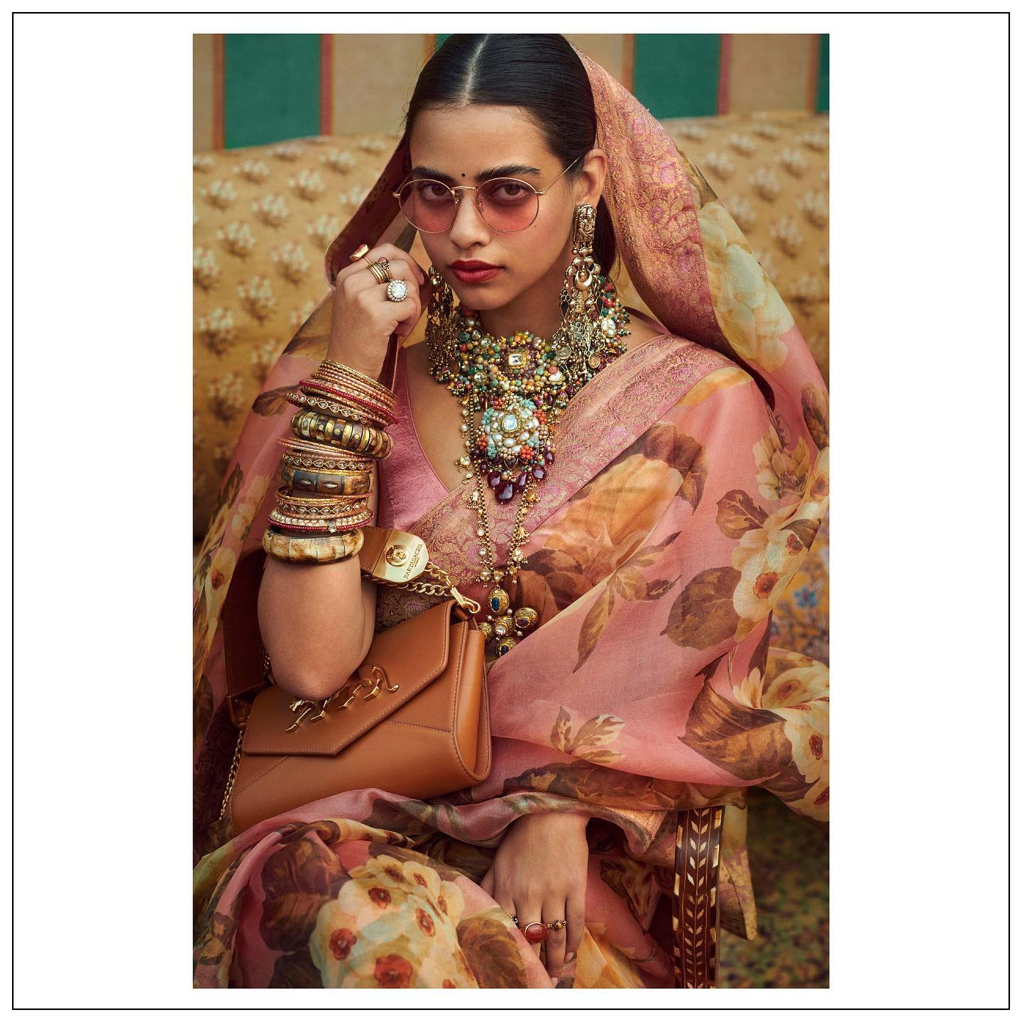 The Sabyasachi 2021 Collection. Sabyasachi floral saree. For all product related queries please email at customerservice@sabyasachi.com or contact retail stores directly. 2021-09-27