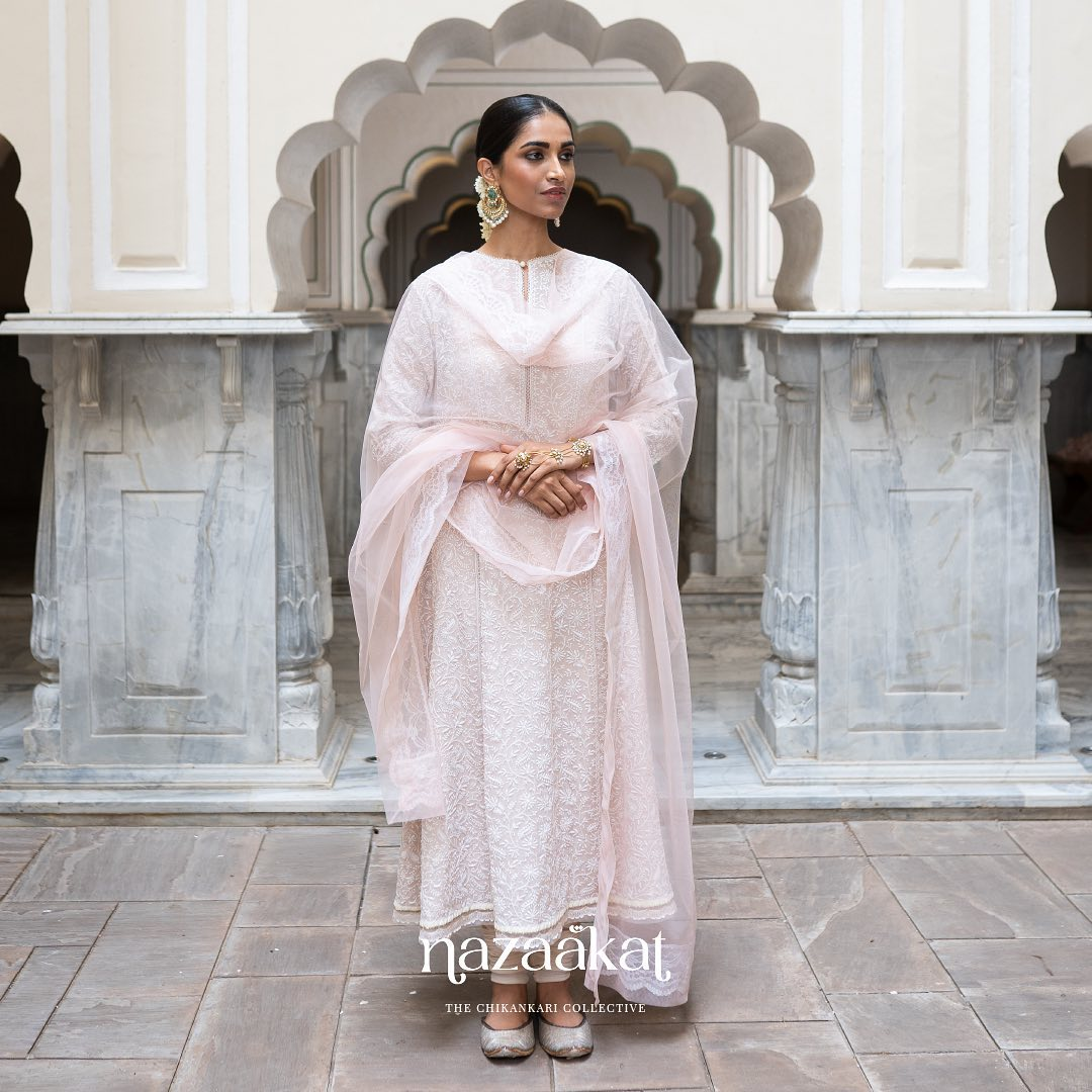 A pastel palette of indelible hues that remain etched in your memory. The Nazaakat collection showcases timeless workmanship that embellishes every ensemble.  For a preview of Anushree Reddy's mesmerizing Chikankari collection request a lookbook on +91 70753 37888 or email at sales@anushreereddy.org. 2021-09-30