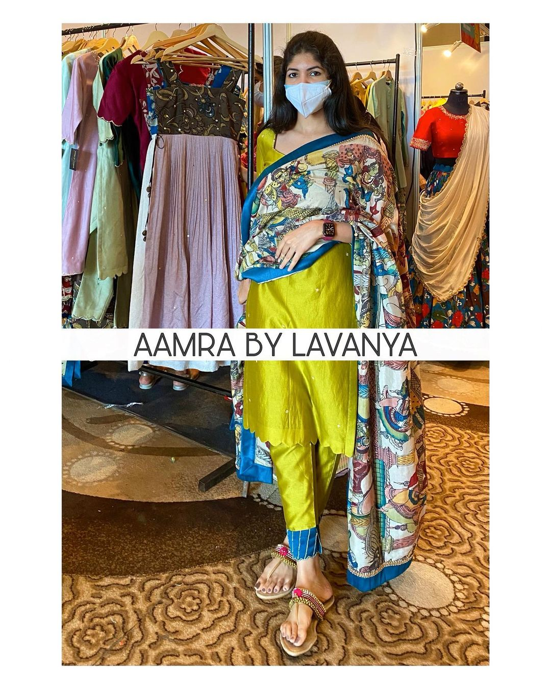 Handpainted pen kalamkari dupatta in customised natural shades with all over hand embroidery paired with hand embroidered straight pants and kurtha. For orders and queries call/whatsapp on +91-9177363970. 2021-10-08