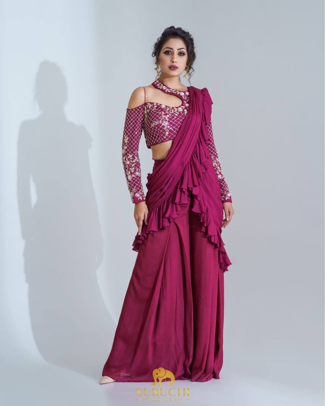 Contemporary ready-to-wear sarees are winning this festive season! It definitely cannot replace the charm of traditional sarees  but it for sure makes it more convenient! 2021-10-09