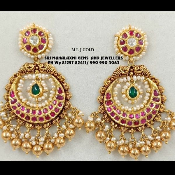 Music for your ears.  Presenting latest earring designs Visit  or best bridal jewelry designs most competitive prices Free shipping within INDIA & USA Instant video call from 11 am to 8 pm anytime on 8179 684 334 & 990 990 3063. 2021-10-11