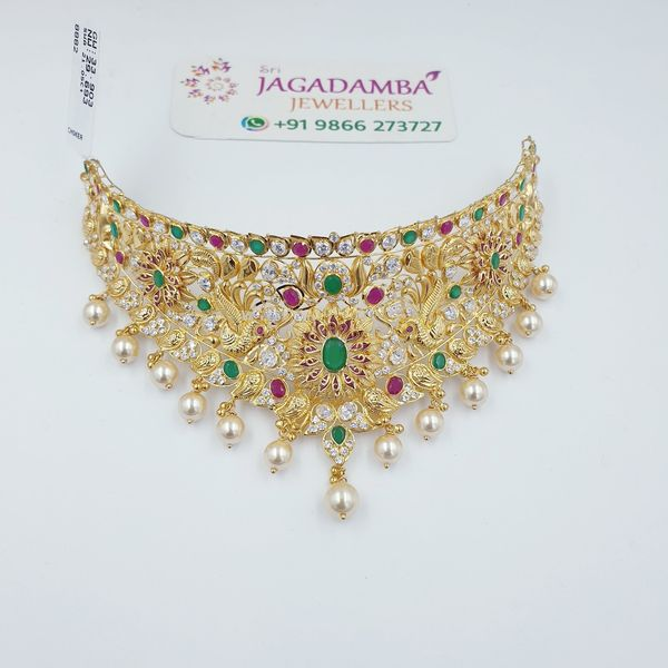 Light weight Junagadh Collection Chokers Net 25 to 30gm Buy online via Whatsapp +919866273727  Get it Delivered within India. 2021-10-11