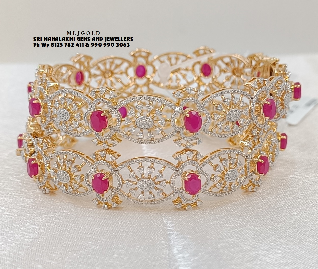 Presenting Bangles studded with IGI certified VVS EF finest quality diamonds. 2021-10-15