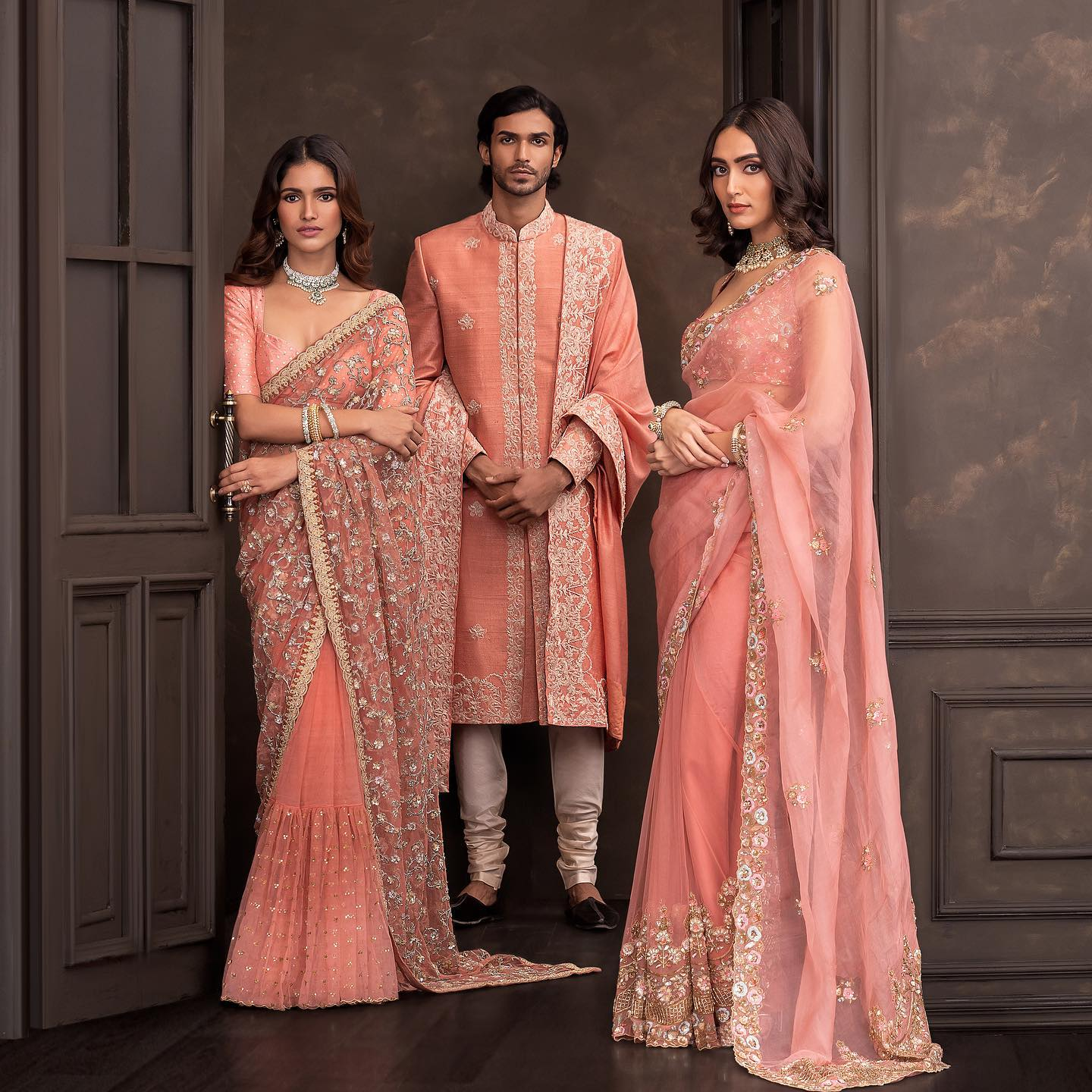 Wedding Couture 21-22. Shyamal and Bhumika wedding saree. . The latest Wedding Couture collection is now available in-store! 2021-10-15