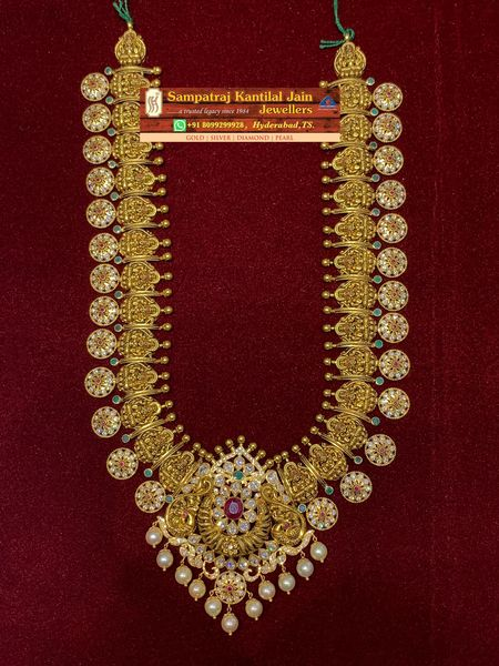Long necklace . Weight:- 100 grams onwards. 2021-10-18