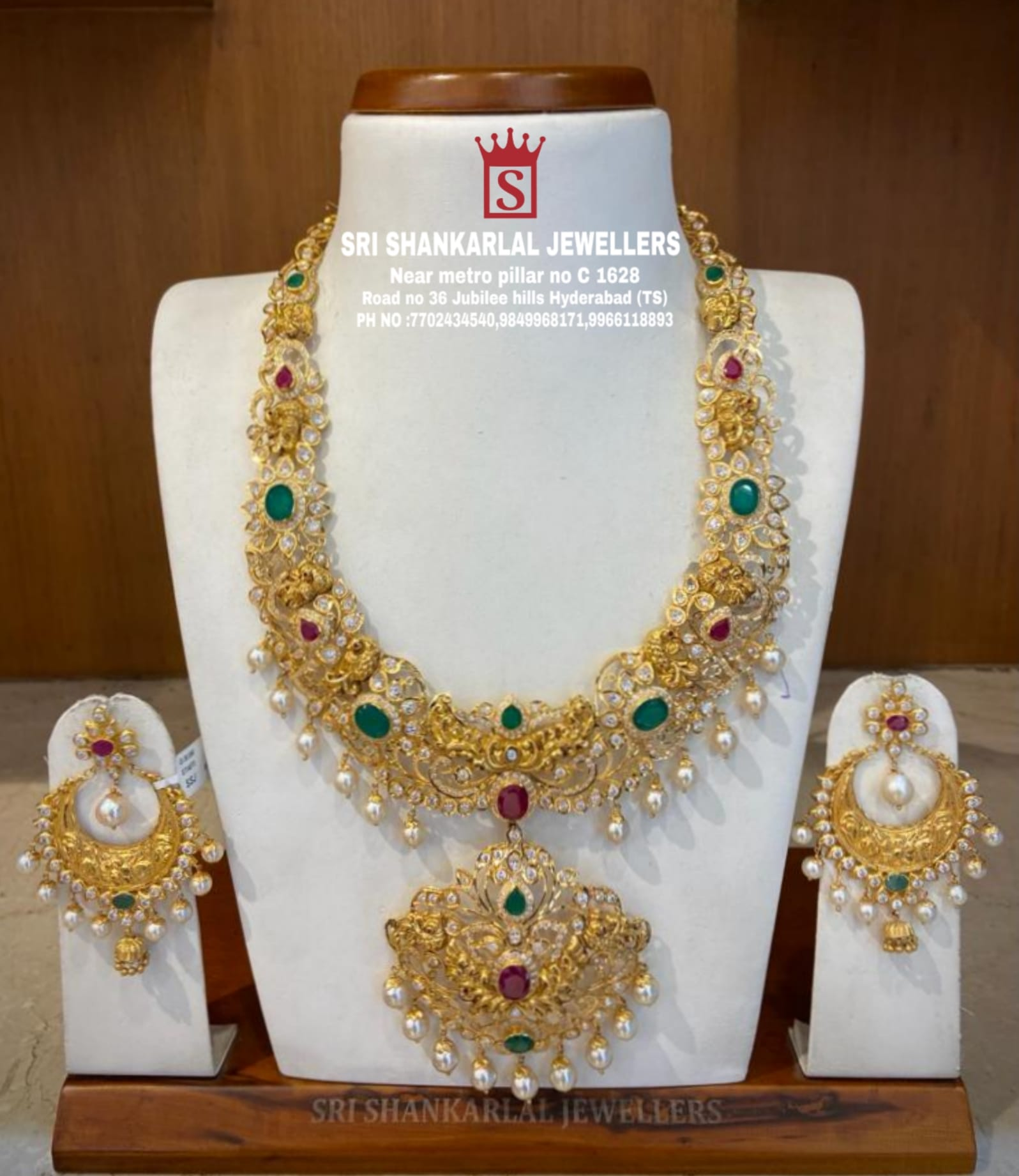 Latest Pachi Peacock Haram and Chandbalis in light Weighted at reasonable prices! Please visit on video call 7702434540 //9849968171 //9966118893//7702034540. 2021-10-19
