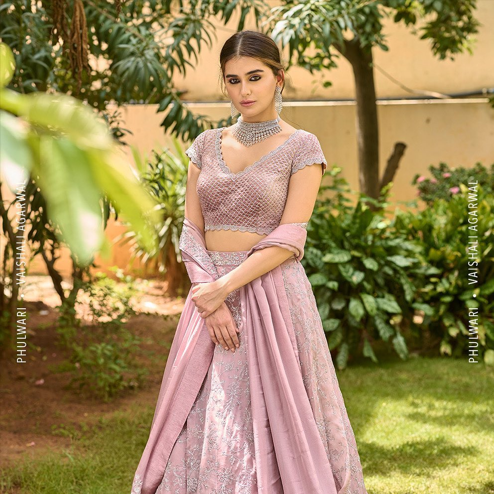 Phulwari . Zara in Maple pink pitai lehenga set. This look features exquisite pita work on lehenga paired with a checked pitai blouse with scallops and a flowy dupatta.  To shop our new collection Phulwari  DM us or Whatsapp us on +91 99083 48333 2021-10-20