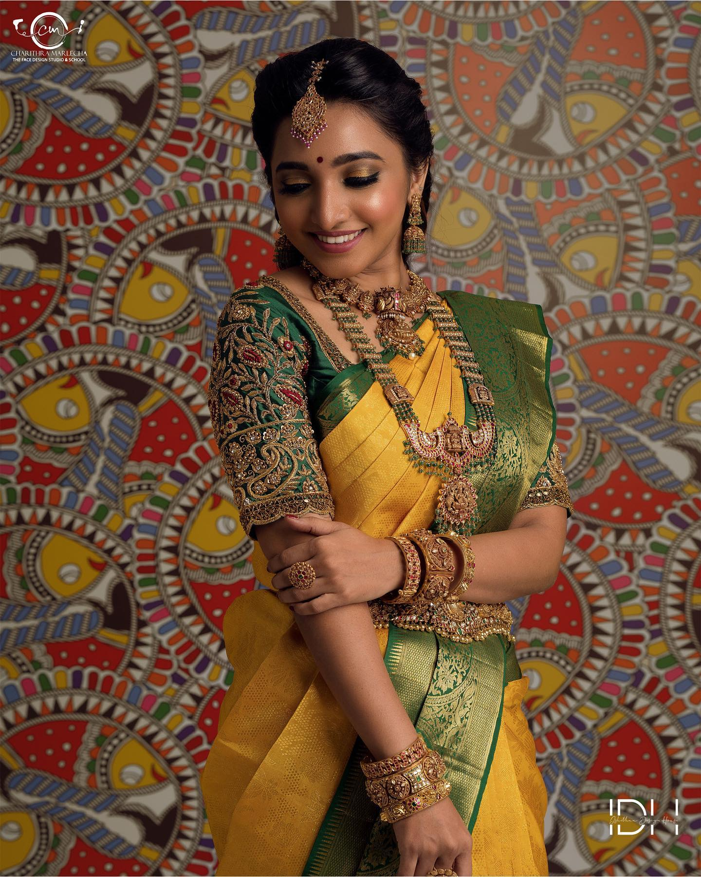 Ever Green.. Ever green color combination traditional kanchi pattu saree. Stunning muse : Sitaaaa. Blouse : Ishithaa design house. Mua : Charithramarlechaa. Saree : Mokshaa chennai. Jewellery : Challani jewellery . 2021-10-22