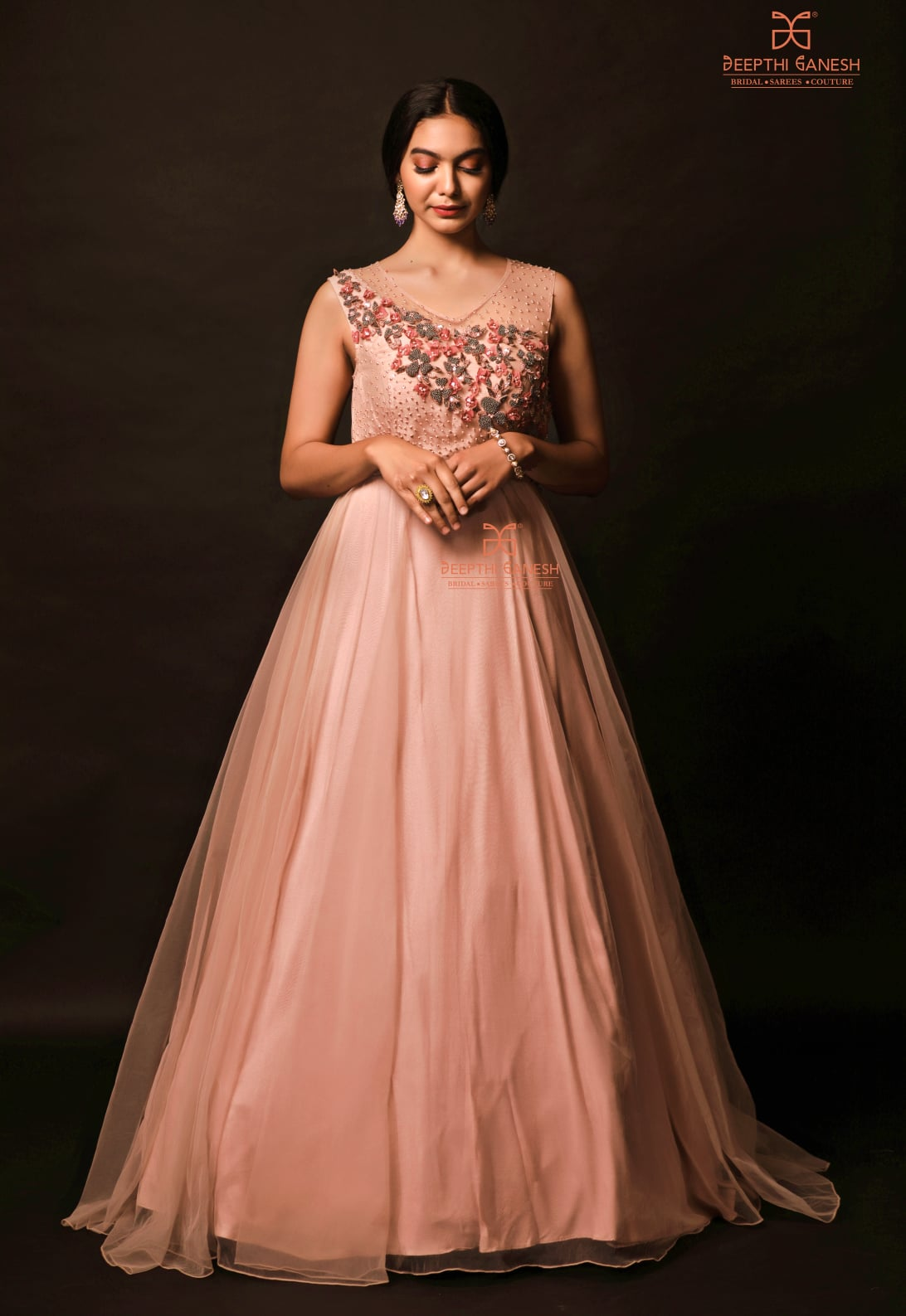 Reach the enigma of fashion with this layered long gown. Perfect party wear!!! For enquirers  please whatsapp on +91-8142420088 for more details |  2021-10-22